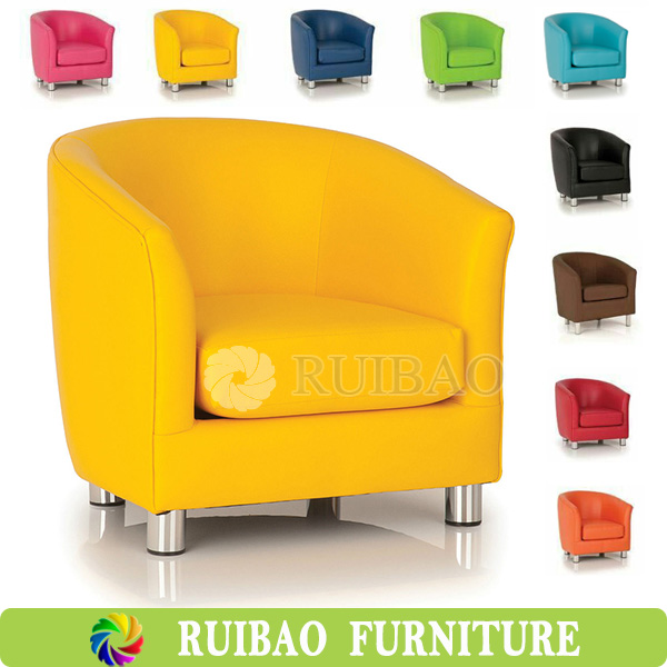 Fancy Sofa Furniture Super Quality Leather Tub Chair For One Person