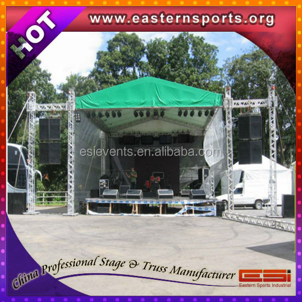 Strong lift truss system with wings for speaker hanging