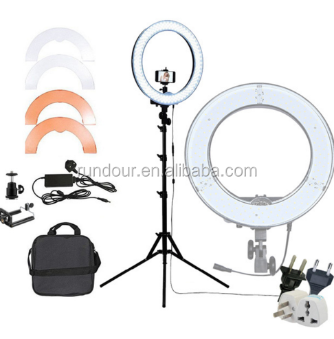 Rundour 12inch RL-12 ring light led photography camera video studio light 5600k dimmable circle lights lamp