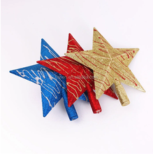 cheap outdoor hanging plastic treetop star Christmas star decorations
