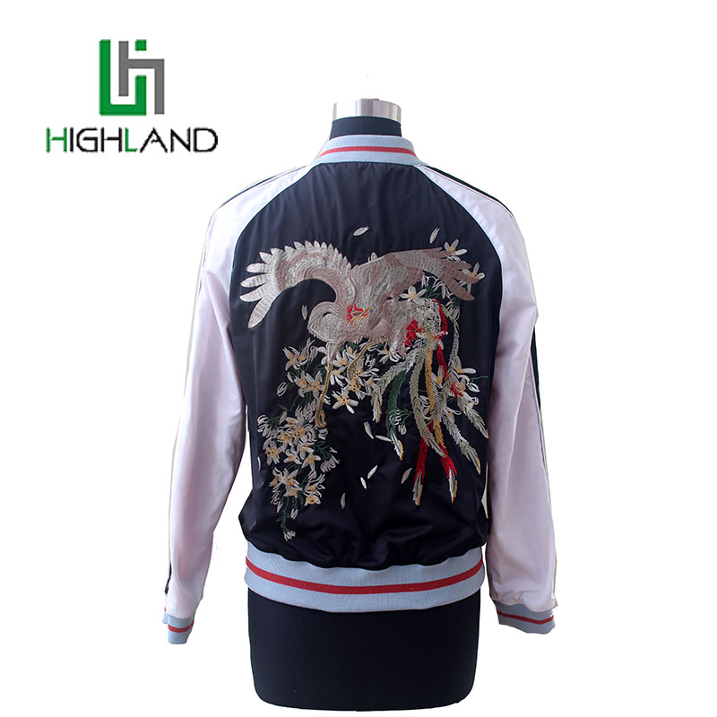 Most Popular Thread Baseball Sport Clothing Fashion Womens Bomber Jackets Embroidery Jacket