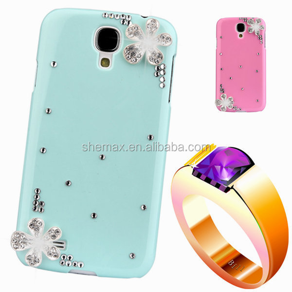 diamond rhinestone case For samsng s3 SIII Floral mobile Phones & Accessories luxury bling plastic back cover For galaxy i9300