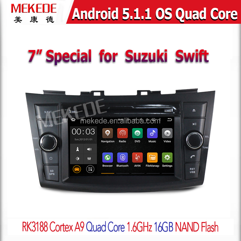 Android5.11 car DVD player for Suzuki Swift 2012 with gps navigator Ipod Mirror link 3G wifi Bluetooth mirror link