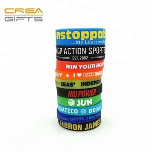 Customized Personalized Free Sample Cool Sports Adjustable Thin Silicone Bracelets