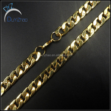 men's latest hip hop 24k gold cuban chains necklace