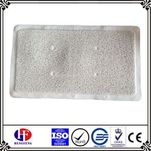 Plastic foot mat heated bath mats