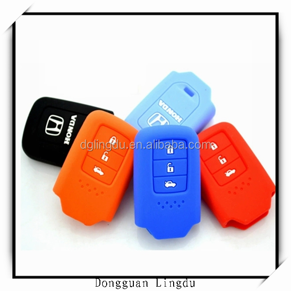 colorful silicone car key protector cover
