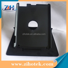 Hot Blank leather sublimation cases for iPad 3 with 360 Degree rotation Dormancy function