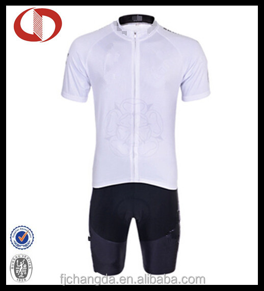 Dri fit cycling uniform blank white men's cycling jersey