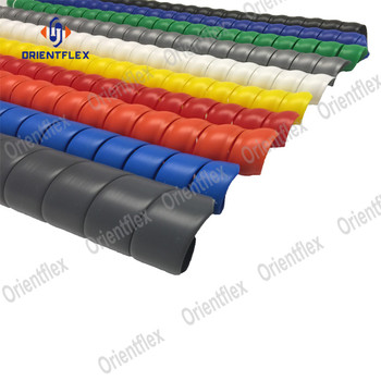 high performance hydraulic hose protection spiral hose guard