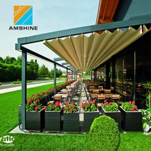 outdoor retractable roof waterproof awning system