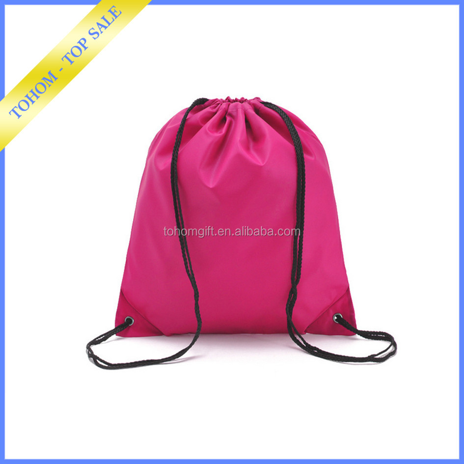 China fashion customized fashion colorful drawstring backpack bag for gym