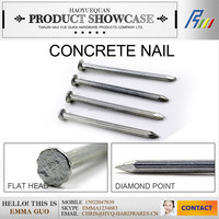 #45 high quality groove/smooth shank concrete nail, cement nail,masonry nail made in china plant