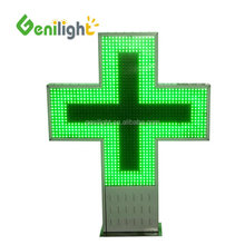 outdoor usage CE RoHS P16 P20 Pixels 3d led pharmacy cross display sign RS232 RF control communication