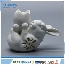 glazed ceramic easter bunny rabbit egg holder