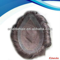 "Hot sale 6 inch 7""x9"" human indian remy hair mens toupee"