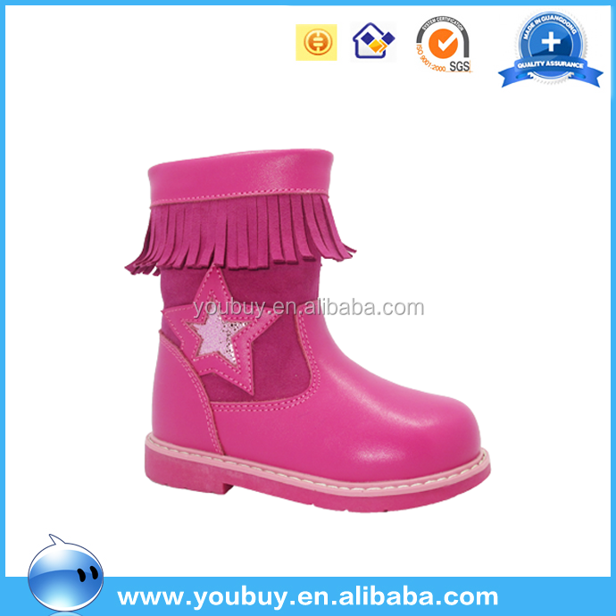 Beautiful Lovely Leather Children Winter Boots,Latest Footwear For Girls