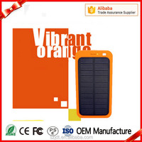 2016 New Solar Sun Black Power Bank 4000mah For Smartphoone