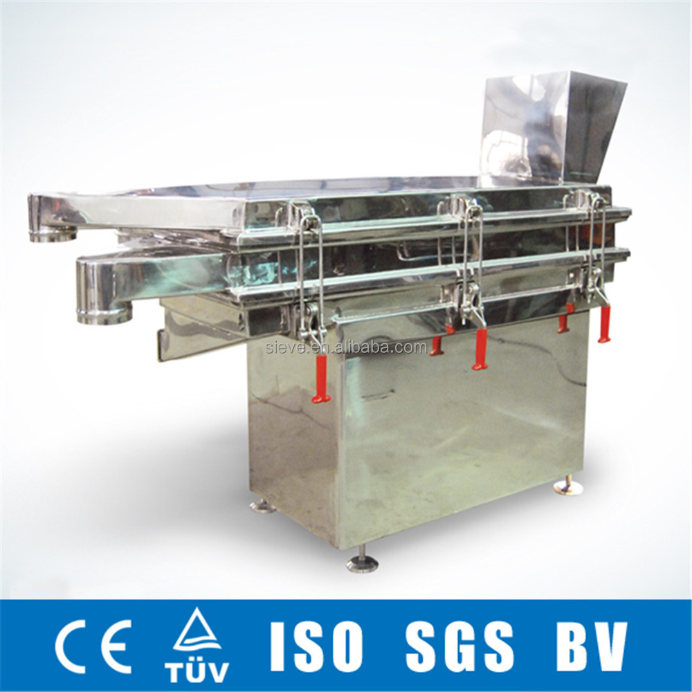 Best price stainless steel linear tea industry vibration sieve