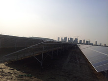 solar energy system mounts with screw pile