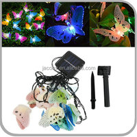 Solar Fiber Optic Butterfly String Lights 10/20/30 Led butterfly Shape for garden (JL-7545)