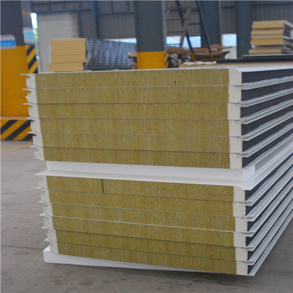 75mm eps/rockwool sandwich panel building prefabricated light steel frame house for office