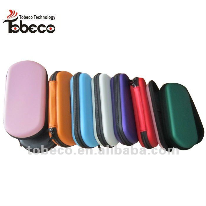 Various colored e cigarette with leather bags