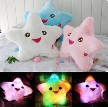 Colorful Luminous Pillow Toy/ Led Light Pillow /Glow in Dark Plush Pillow