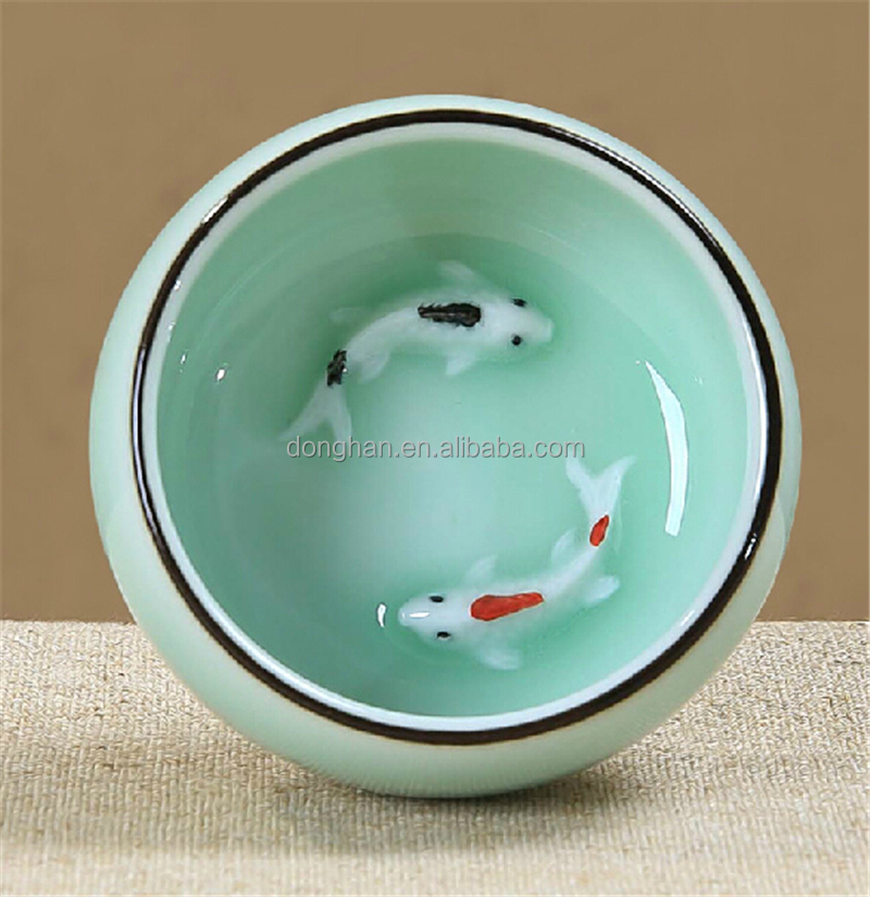 OEM and ODM custom factory directly made in china guangdong ceramic wholesale tea cup ornaments
