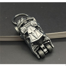 J Store Movie The Dark Knight Batman Car 3D Model Batmobile Keychain Batman Superman Keyring for Women Men Jewelry