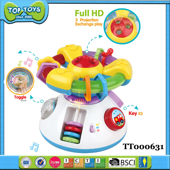2 In 1 Projection Musical Steering Wheel Electronic Toys For Kids