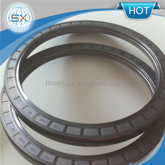 NBR/FKM/PTFE/VITON/FKM double lips TC skeleton oil seal