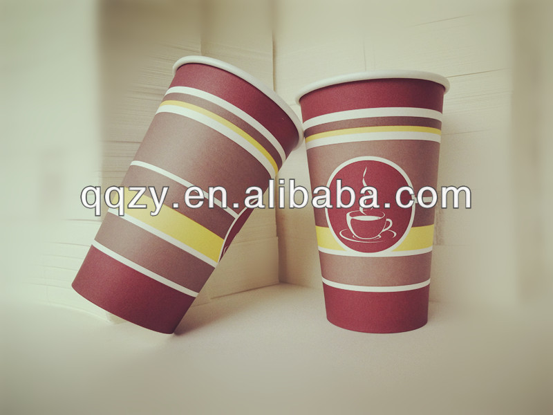 16oz paper coffee cup with customized logo for Vending Machine