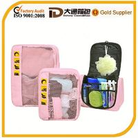 Polyeter makeup cosmetic Travel toiletry bag sets 2015