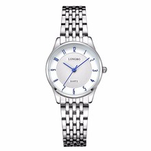 longbo brand stainless steel band chinese wrist watch with japanese movement womens watches