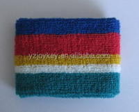 cotton striped colors wrist sweatband
