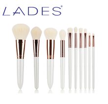 LADES hot sale 10pcs makeup brush set cosmetic high quality makeup brushes private label makeup brush