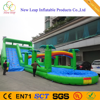 New design giant adult inflatable long slide