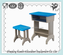 Simple cheap used dormitory furniture pp plastic school student shelf desk chair for school supply