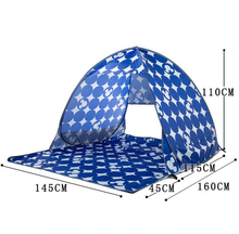ZP065 foldable pop up fishing tent beach double person sunshade tent