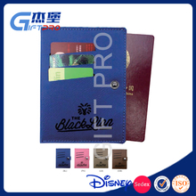 Fashion Simple Design Card Case Wallet Embossed Leather Passport Cover Men Women Business Promo Gifts