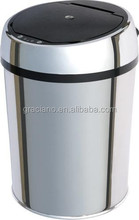 JN005B Contemporary Stainless Steel Automatic Sensor Trash Bin with PP Inner Bucket