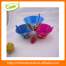 China Suppliers Bowl Plastic With Straw