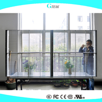 Window transparent glass led display big screen