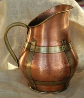 French Brass Lined Pitcher