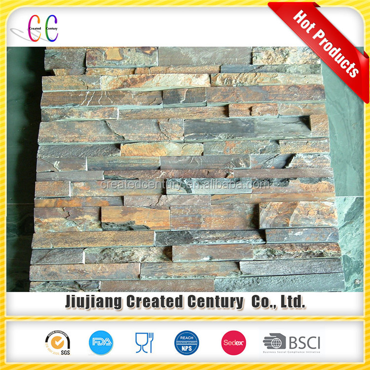 Cheap Interior Exterior Natural Slate Culture Stone Wall Panel