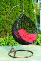 Hot sale Home Garden Furniture indoor outdoor PE rattan swing for adult
