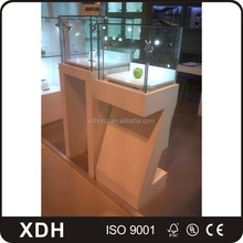 Luxury led lighted jewelry cabinet wooden jewelry display furniture