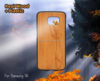 wood+pc mobile phone case for samsung s6,for samsung s6 wooden case