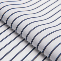 Hot sale Luthai ready stock 70s*70s 200*100 100% cotton navy and white stripe shirt fabric
